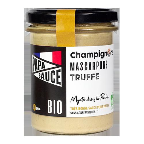 Papa Sauce, sauce aux champignons, mascarpone et truffe