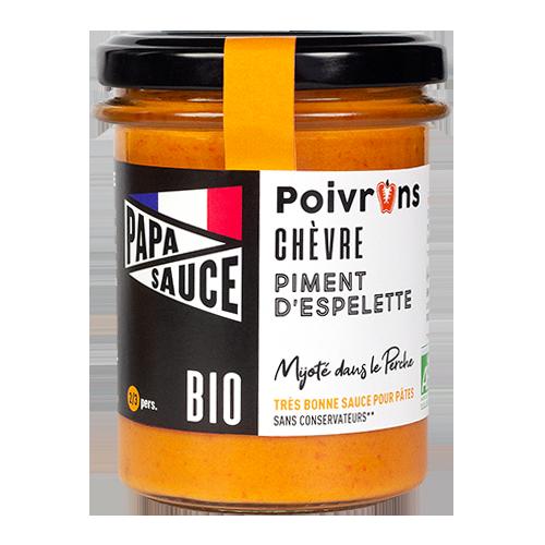Papa Sauce, sauce aux poivrons, chèvre et piment d'Espelette bio