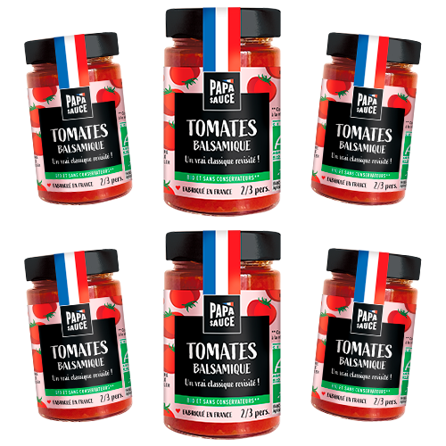 Sauce Pâtes Tomate Balsamique Papa Sauce Made in France